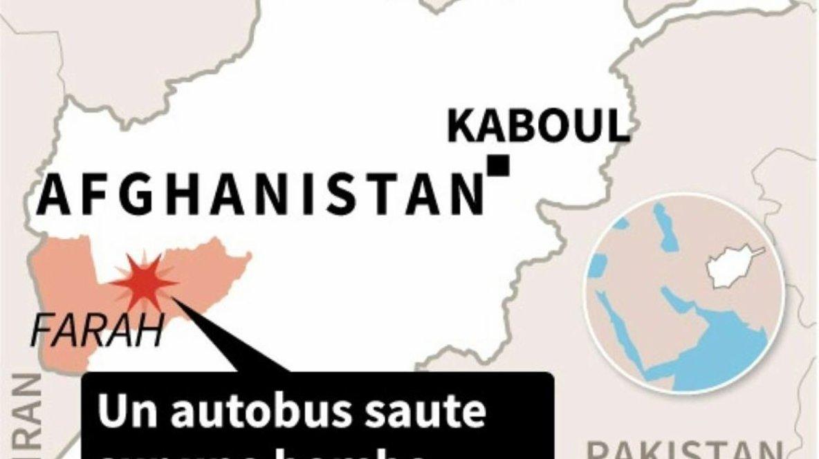 31-07-2019 - Afghanistan - un bus saute sur une bombe, au moins 34 morts