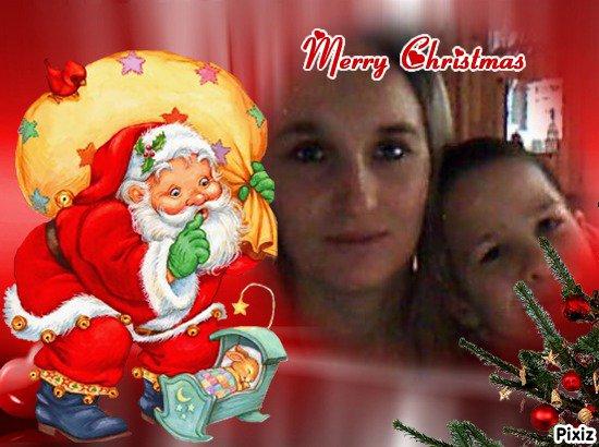 Résultat du montage photo : Père Noël Lapin Merry Christmas - Pixiz