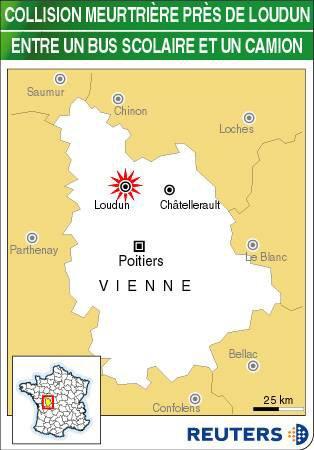 Accident de car scolaire dans la Vienne, un mort