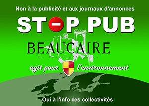 Autocollants «STOP PUB - Ville de Beaucaire» - Ville de Beaucaire