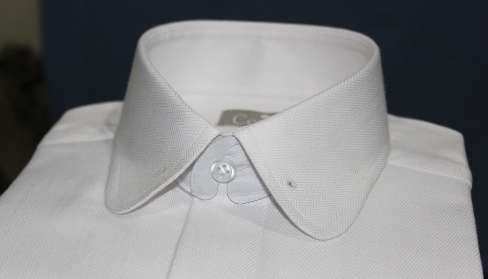 Pin Collar Dress Shirt