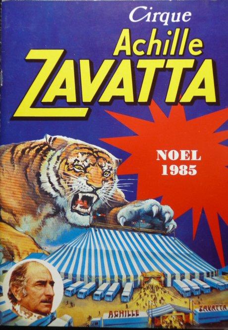 A vendre / On sale / Zu verkaufen / En venta / для продажи :  Programme Cirque ACHILLE ZAVATTA Noël 1985