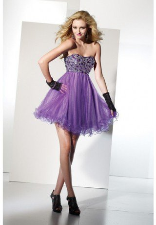 2013 evening dress selling Purple Ball Gown Mini-length Sweetheart Low-back Sexy Dress With Jewel Zipper Sexydresses - Evening - Fashionweddingdress.co.uk