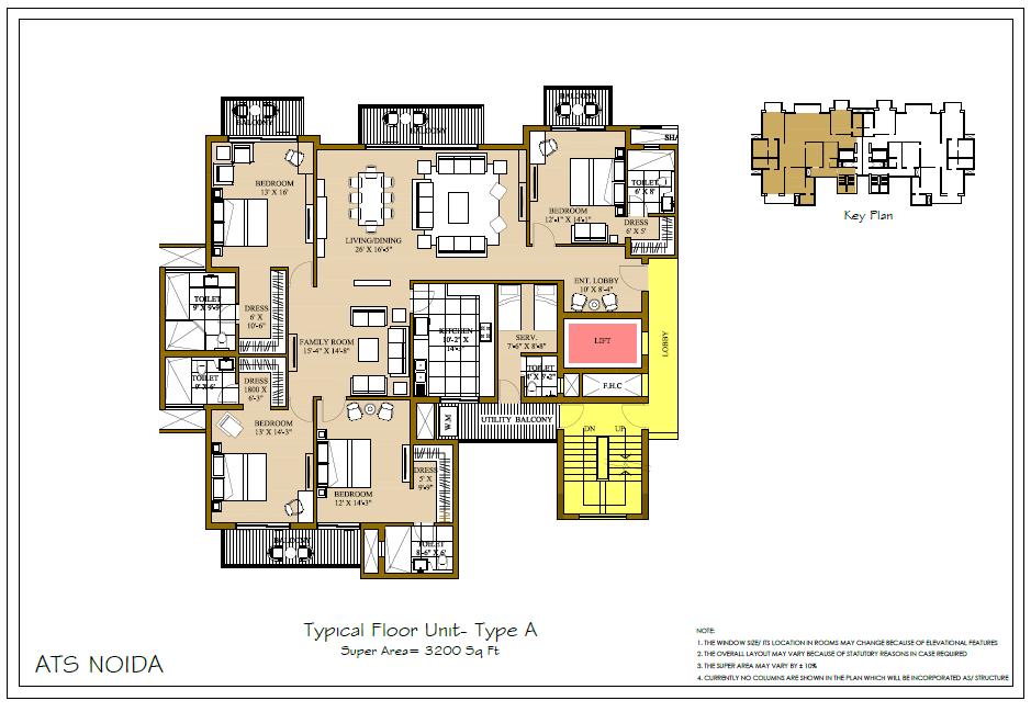 ATS Pristine Floor Plan 3200 Sqft