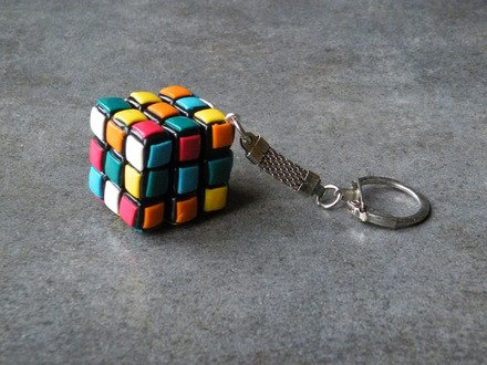 Porte Clés rubik's cube en fimo : Porte clés par jl-bijoux-creation
