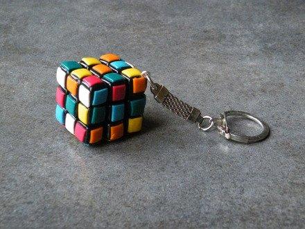 Porte Clés rubik's cube en fimo