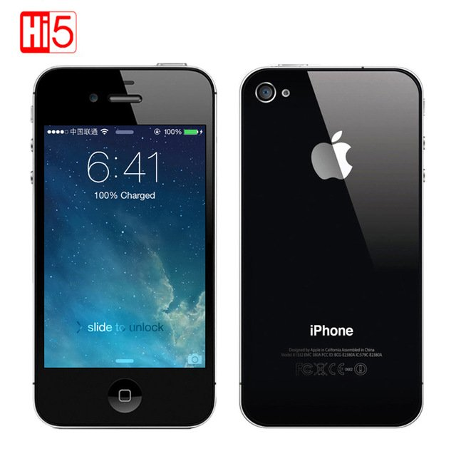 Unlocked Original Apple iPhone 4S 8G ROM ios Touchscreen WIFI WCDMA GPS 8MP 1080P IPS Mobile Phone smartphone used iphone4s-in Mobile Phones from Cellphones & Telecommunications on Aliexpress.com |...