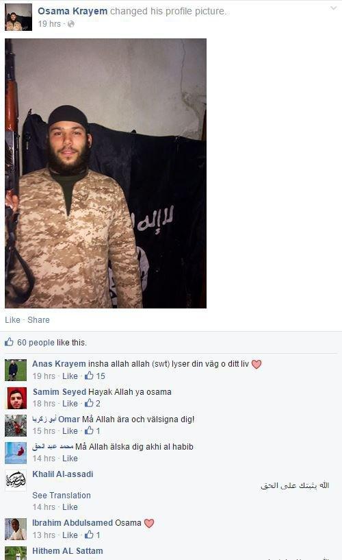 Nätverket runt en svensk IS-krigare
