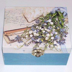 Boîte à bijoux vintage bleu