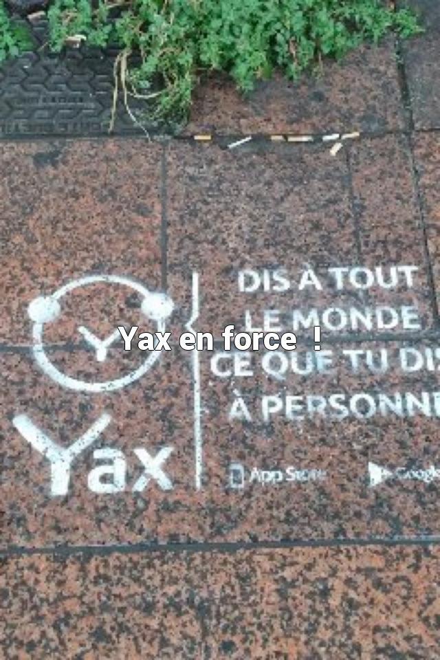 Yax en force  !