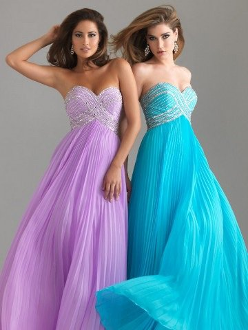 2012 Style Sheath / Column Sweetheart Beading Sleeveless Floor-length Chiffon Prom Dress / Evening Dress