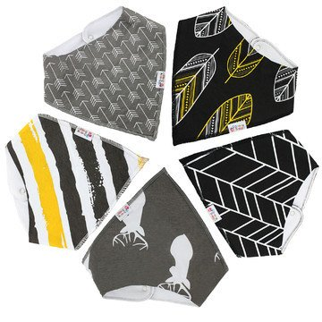 Modern and Trendy Baby Bandana Bibs by Snappy Swagger