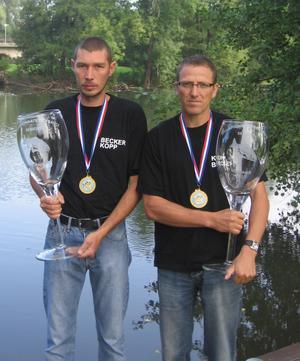 CHAMPIONS DE FRANCE 2007, 1er individuelle et 1er par équipes, cart...