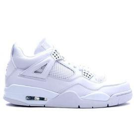 New Air Jordan Retro 4 White Metallic Silver Cheap