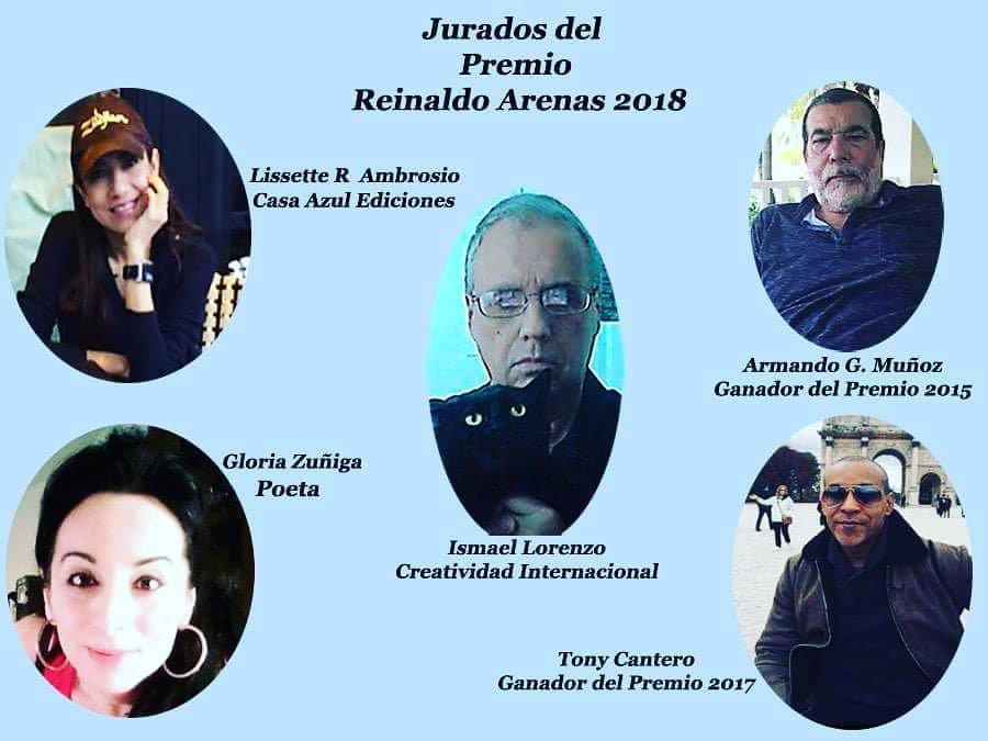 #PremioLirerarioReinaldoArenas2018, de #CreatividadInternacional en la modalidad de #novela. #Convocatoria abierta hasta el 15 de octubre