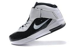 Nike Zoom Lebron 5 black white red mens