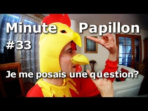 Minute Papillon #33 Je me posais une question ?