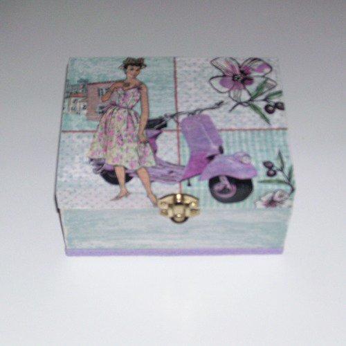 Boîte à bijoux scooter