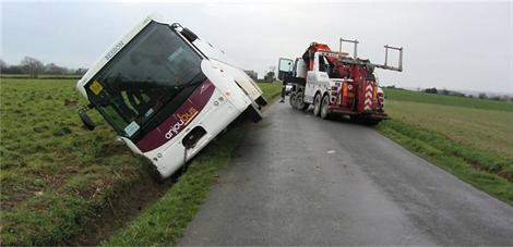 Accident. À Coron, un bus avec 58 enfants à bord dans le fossé - Coron - Faits divers - ouest-france.fr