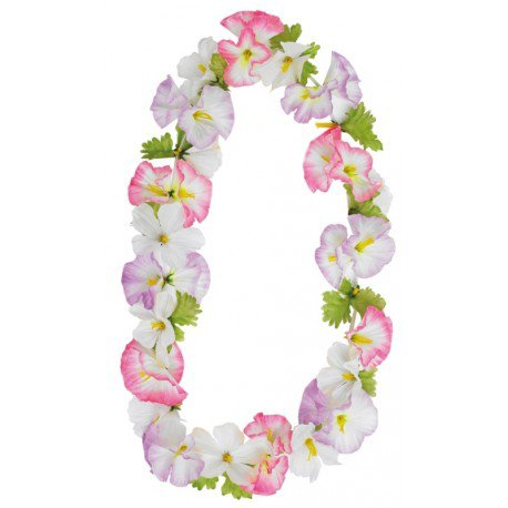 Collier hawaïen de fleurs : collier hawaien Hawaï fleurs hawaïennes
