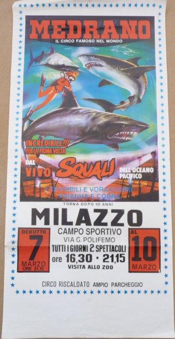 Affiche circo MEDRANO 1988