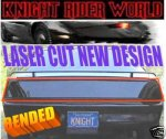 PONTIAC FIREBIRD KNIGHT RIDER REAR BLACKOUT COVER KITT