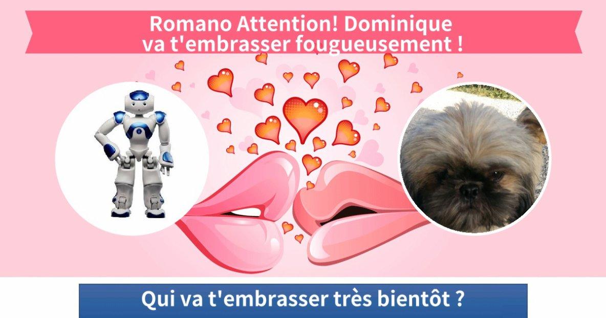 Romano va être embrasser par Dominique !