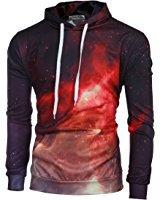 Tonsee Hommes manches longues imprimé Hoodie Sweatshirt veste manteau Outwear: Amazon.fr: Vêtements et accessoires