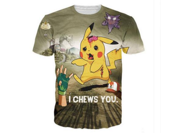 T-shirt Pikachu Pokemon - Livraison gratuite !