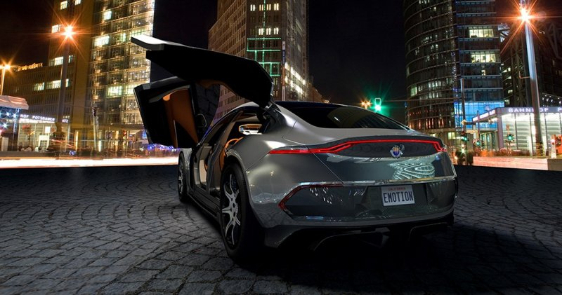 First official pictures of the all-electric Fisker Emotion