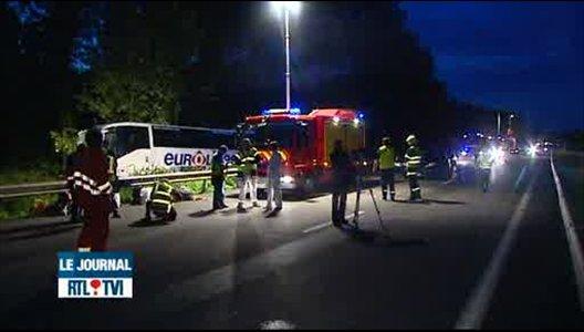1 jeune Français décédé dans un accident d'autocar sur l'A2 à Crespin.