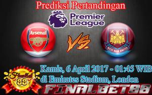 Prediksi Arsenal vs West Ham United 6 April 2017