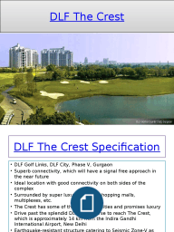 DLF The Crest in sector 54 Gurgaon