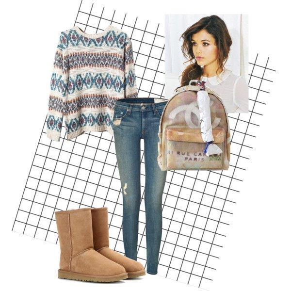 Style avec pull Jacquard