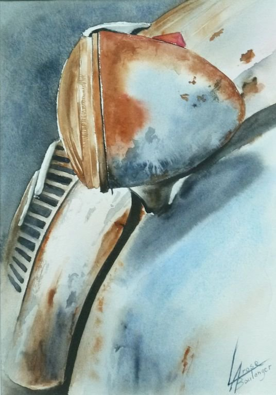2cv-phare40x50 | Aquarelle | Pinterest | Cars, Painting and Watercolor