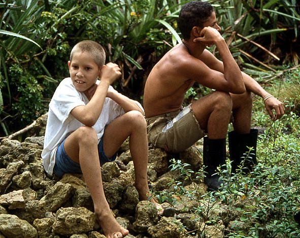 garçons paysans de cuba