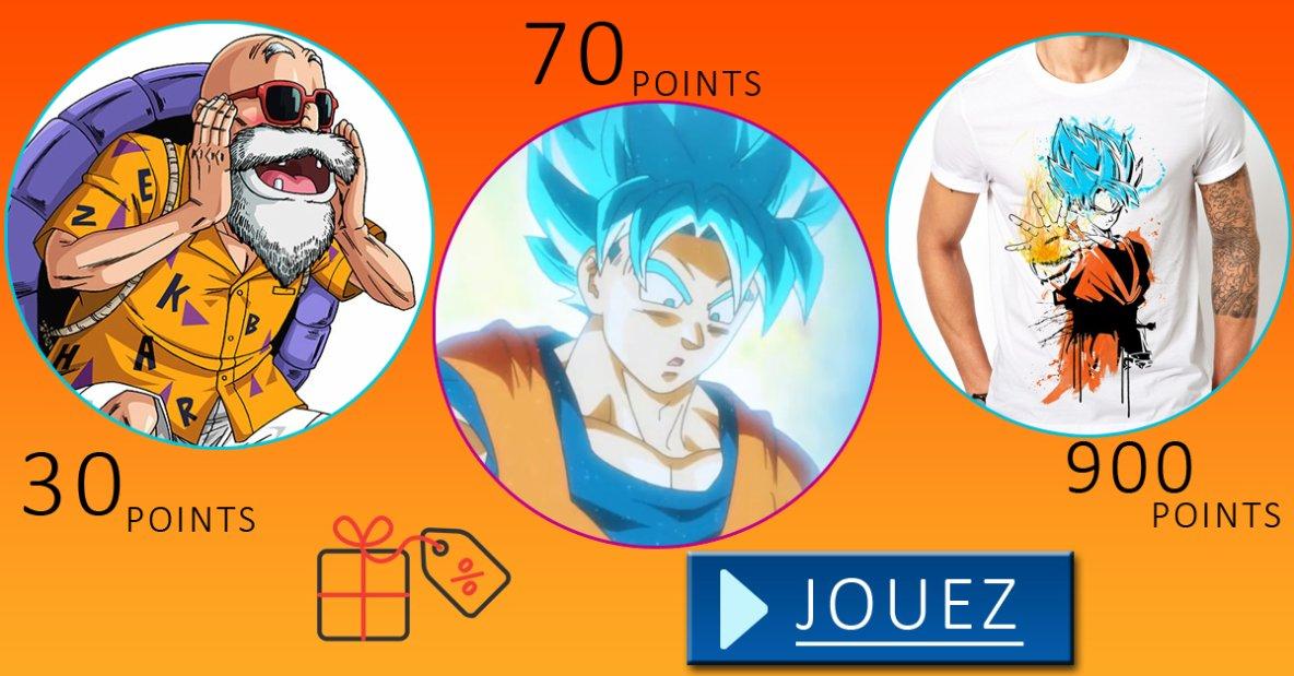 J'ai des t-shirts Dragon Ball à vous faire Gagner ! :-)