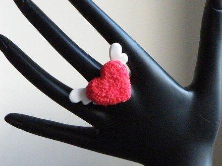 Bague cœur en fimo Réglable : Bague par jl-bijoux-creation