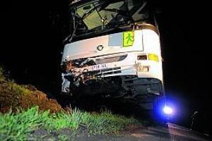 Neufmaison: bus scolaire dans le fossé, 10blessés - lanouvellegazette.be