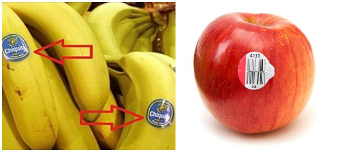 What Do Those Codes On Stickers Of Fruits And Some Veggies Mean? - Healthy Food Society