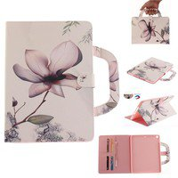 Wish | Magnolia Flower Handbag Tablet Leather Wallet Flip Cover for iPad 2 3 4 Mini Air iPad Pro 9.7 10.5 Samsung Tab T310 T311 T315 T580 T585 T350 T280 T285 T355 T550 T555 T375 T377 T560 T561 T710 T715 T719 T810 T815 T819