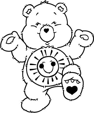 Sticker Bisounours 101 Funshine Bear - 57x69 cm