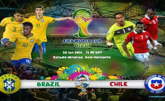 بث مباشر مباراة البرازيل وتشيلي
