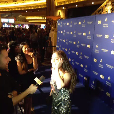 Live on the red carpet of @HakkasanLV's Grand Opening with @VanessaHudgens and @CherylBurke