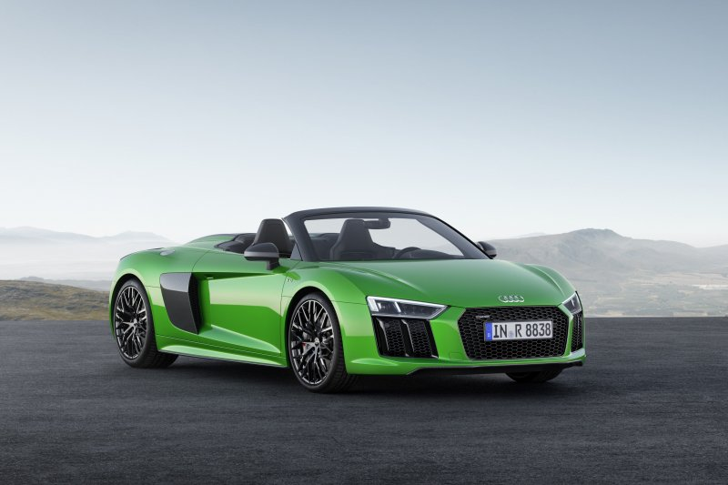The open-top 2018 Audi R8 Spyder V10 Plus- just in time for summer