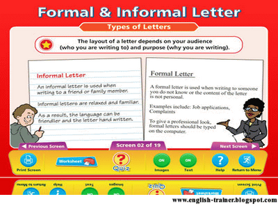 Comparing Between Formal And Informal Letter