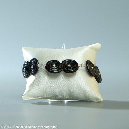 Bracelet réglisse en fimo : Bracelet par jl-bijoux-creation