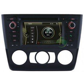 Auto DVD Player GPS Navigationssystem für BMW E81 1 Series(2004 2005 2006 2007 2008 2009 2010 2011 2012) Tür Hecktürmodell(manuelle Klimaanlage und Sitzheizung)