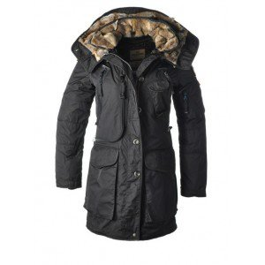 Parajumpers New Adirondack-W Coat Black a down jacket