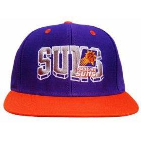 Casquette Neuve Ajustable Officielle NBA - PHOENIX SUNS Snapback - Visiere Plate - Casquette Violette/Orange: Amazon.fr: Sports et Loisirs